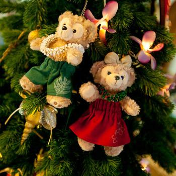 ダッフィー&シェリーメイ クリスマス用コスチューム パウスカート&レイセット