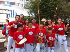 新浦安祭り ステージでカポエイラ