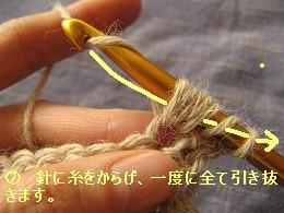 中長編みの玉編み7
