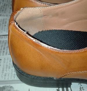 紳士靴 トップラインがはげる