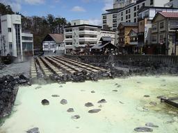 草津温泉−湯畑1