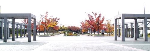 梅小路公園の北側入口