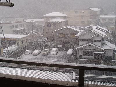 大津に初雪