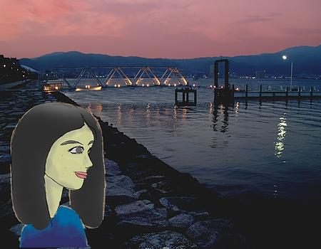 びわ湖畔の夕暮