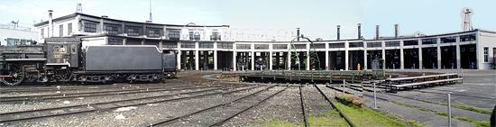 機関車庫と転車台