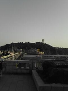 江ノ島大橋の手前から