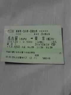 証拠の切符