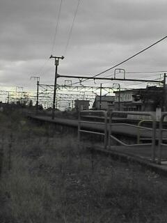 小千谷駅から見た上越線の線路