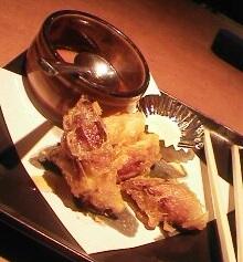 茗荷の天ぷら
