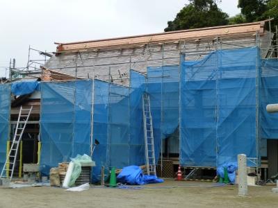 拝殿改修工事