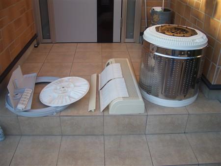 エアコン、洗濯機、分解