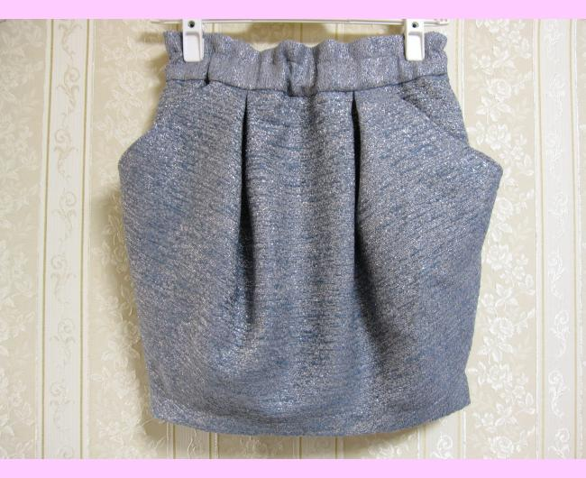 ラメツイードコクーンスカート