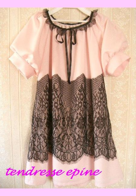 ラッセルレースサックドレス