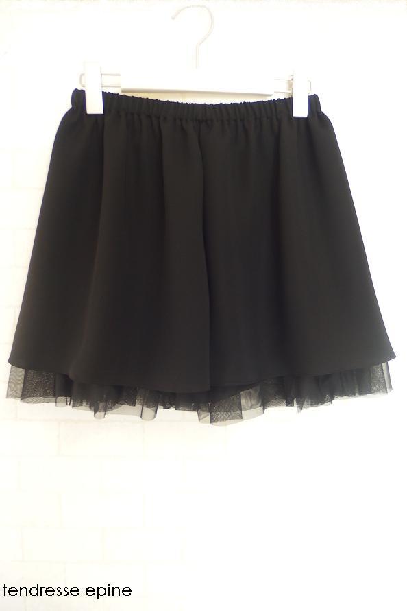 大人ガーリー系ファッション通販テンドレスエピーヌ 定番商品チュールキュロットP5020117.JPG