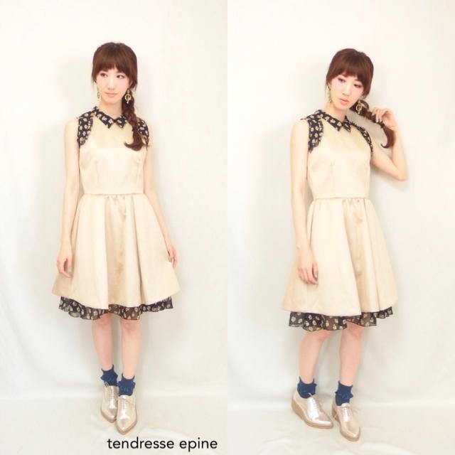 大人ガーリー系ファッション通販テンドレスエピーヌ ワンピースコーディネートiPhoneImage.png