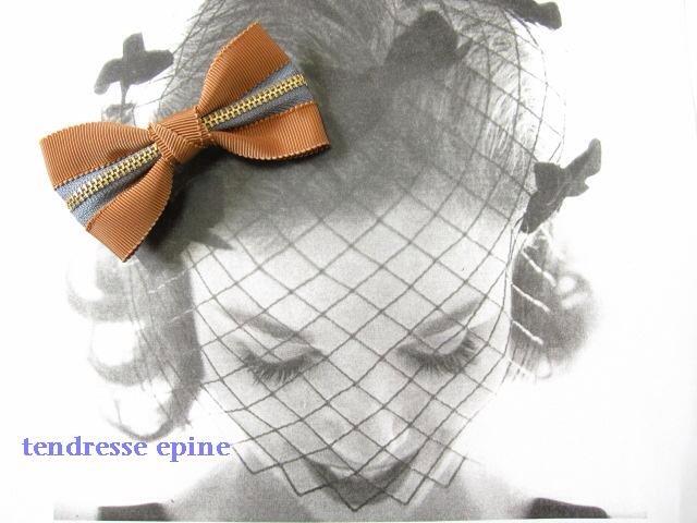 大人可愛いファッション通販テンドレスエピーヌ ZIPリボンヘアゴム(キャメル)