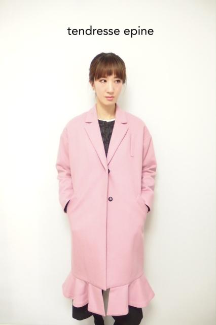 大人ガーリー系ファッション通販テンドレスエピーヌ ピンクチェスターコート