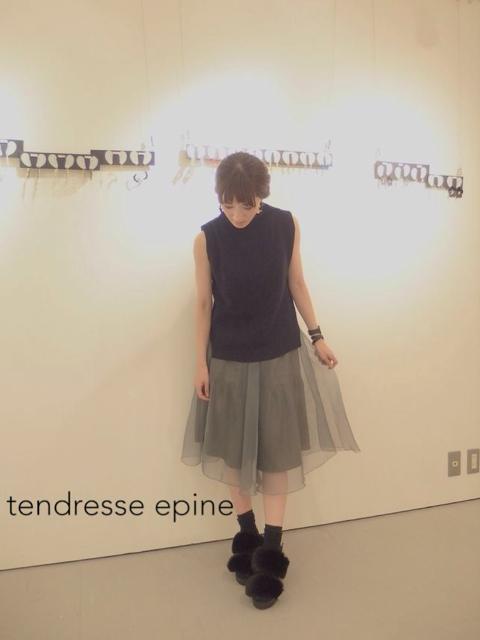 大人ガーリー系ファッション通販テンドレスエピーヌ オーガンジーチュールスカート