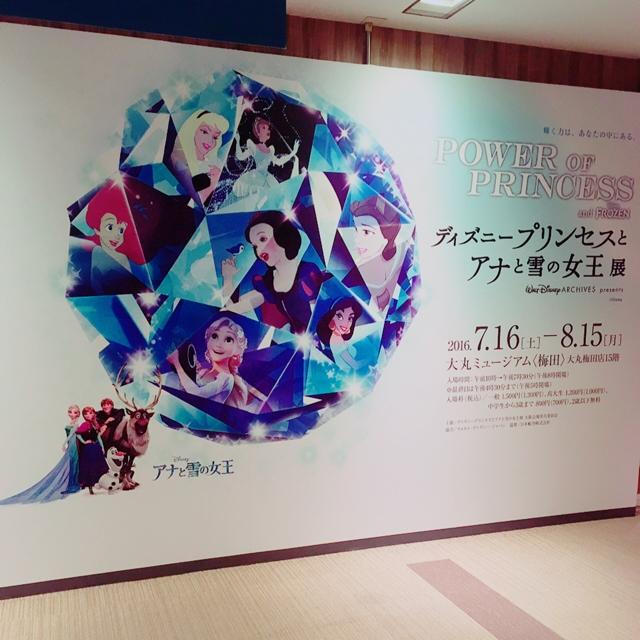 大丸梅田店 ディズニープリンセスとアナと雪の女王