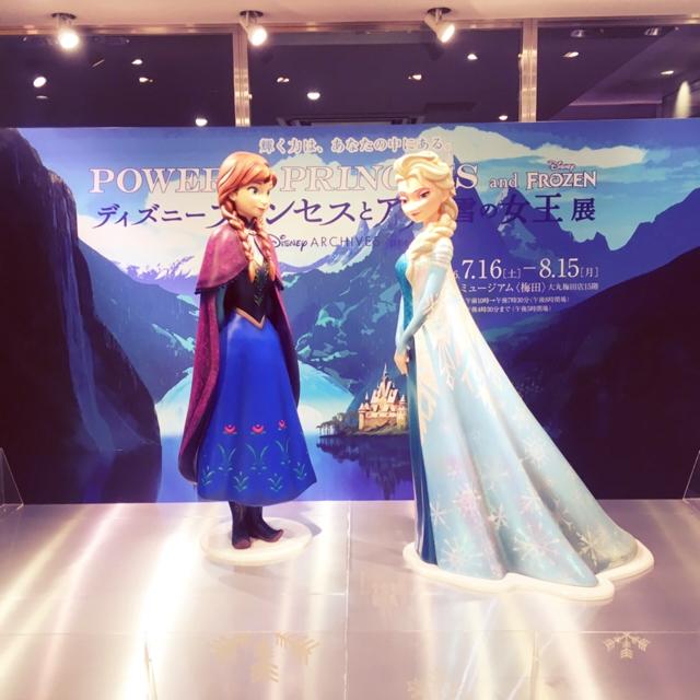 梅田大丸 アナと雪の女王 フォトブース