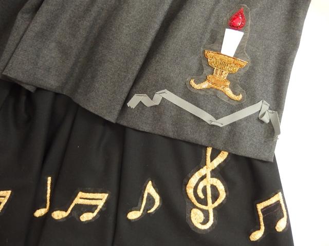 大人ガーリーファッション通販テンドレスエピーヌ キャンドル刺しゅう 音符刺繍