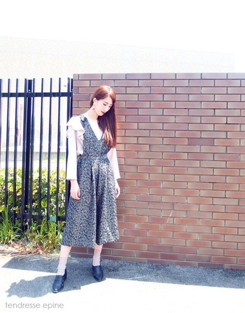 大人ガーリーファッション通販テンドレスエピーヌ サロペットパンツ
