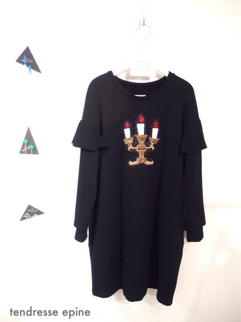 大人ガーリーファッション通販テンドレスエピーヌ 刺繍 ワンピース