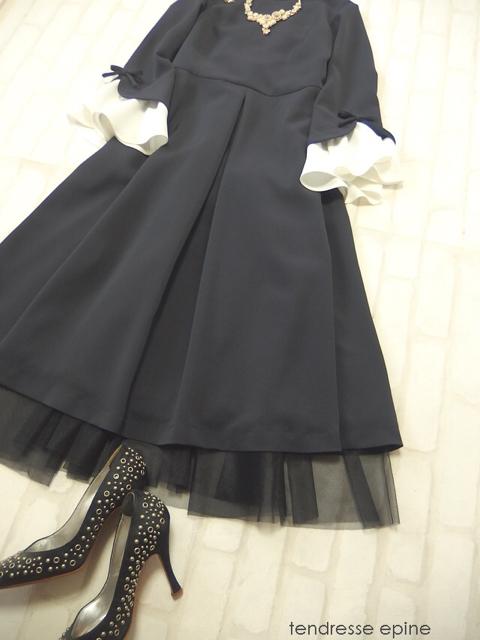 大人ガーリーファッション お呼ばれ服 結婚式や二次会などパーティーワンピースドレス
