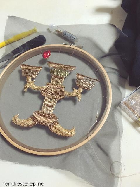 刺繍枠 ビーズ刺繍
