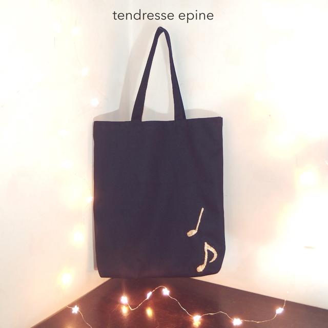 大人可愛い、音符刺しゅうトートバッグ,ロマアラ,お買い物企画,プレゼント