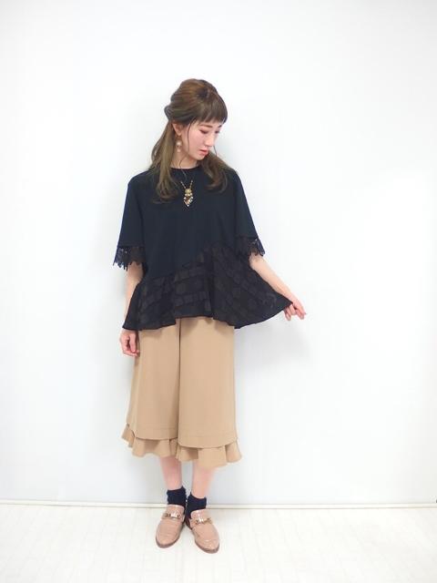 アシメペプラムTシャツ,大人フェミニンファッションブランド,テンドレスエピーヌ