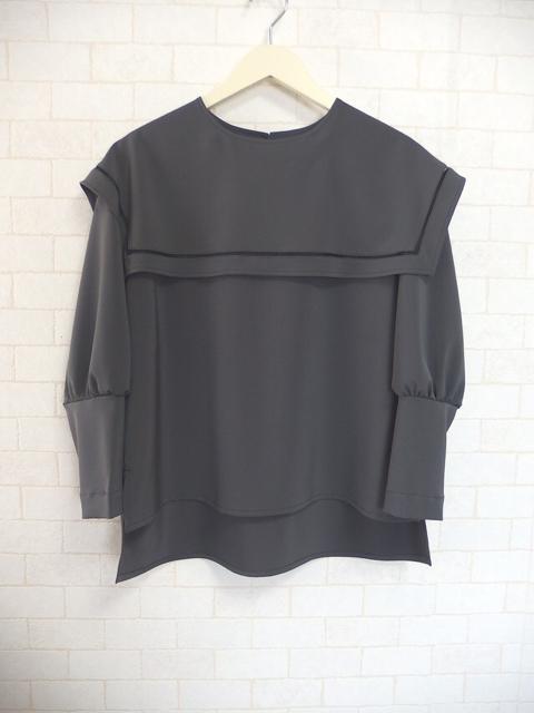 大人フェミニンファッション,セーラーカラーのブラウス(グレー),商品