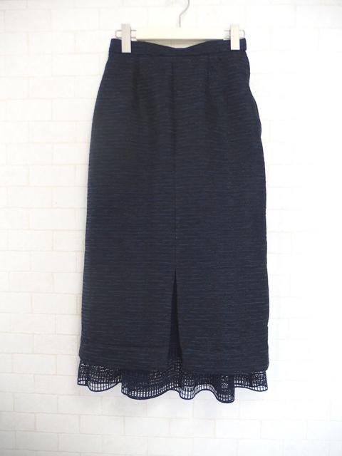 チュールレイヤードタイトスカート,大人フェミニンファッション