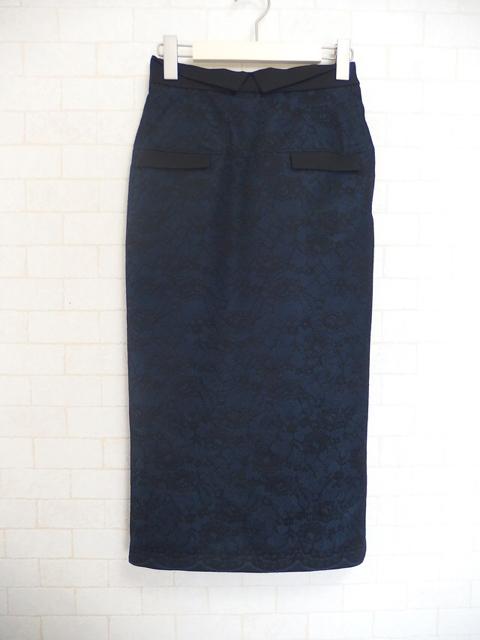 大人フェミニンファッション通販サイト,テンドレスエピーヌのオーバーレースタイトスカート(ネイビー)