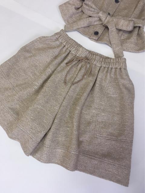 ラメニットショートパンツ,30代ファッション
