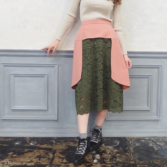 レースドッキングフィッシュテールスカート