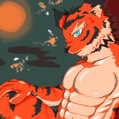 紅(っぽ)い虎