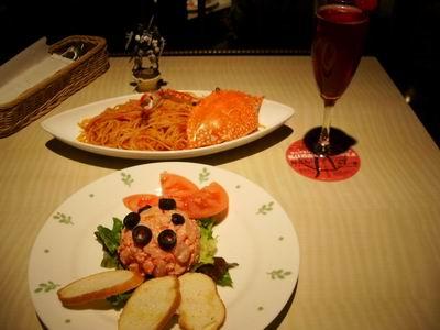 ディナー −シャア専用ズゴック(前菜と主菜)と赤い彗星−