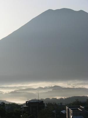 熱気球から見る羊蹄山