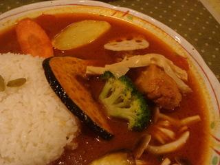 チキンカレー(600円)+野菜トッピング(100円)