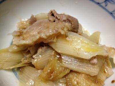 白葱と豚肉の重ね煮