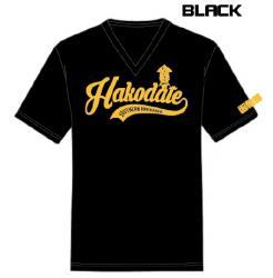 黒VネックTシャツ