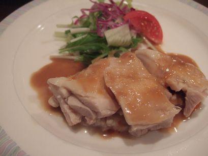 蒸し鶏四川風ゴマソース