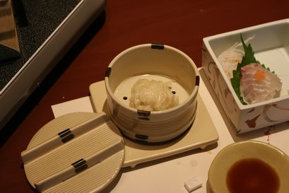 お造りに豆腐しゅうまい
