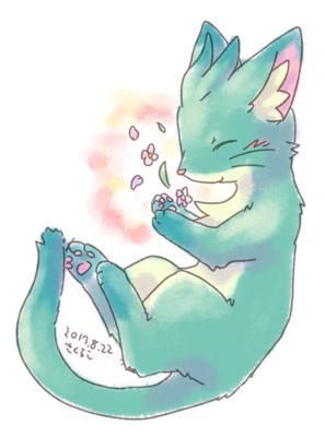20170822青緑猫
