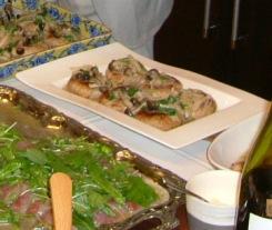 ハマチのカルパッチョ・魚と豆腐のハンバーグ