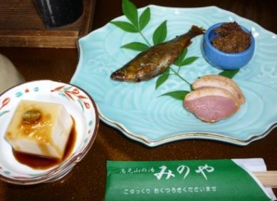 鮎の甘露煮と合鴨