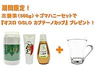 【期間限定!】ゴールド三養茶(500g)+ゴマハニーセットで 『オスロ OSLO カプチーノカップ』プレゼント!