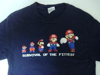 HikkiのテトリスTシャツに対抗して、歴代マリオTシャツをUP!(笑)