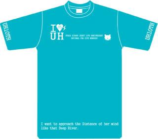 Hikkiデビュー10周年Tシャツ青・前
